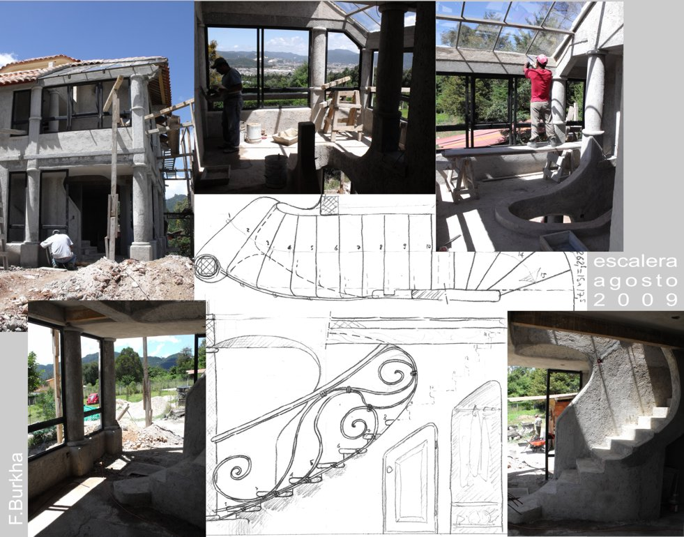 Entrada y escalera (estado de construcción agosto 2009)