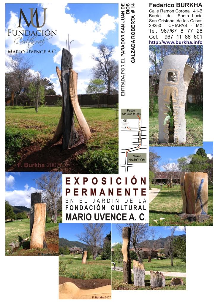 Exposición permanente en el jardin de la fundación cultural Mario Uvence A.C.