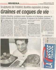 LA PRESSE RIVIERA Mireille Schnorf 26juillet1999