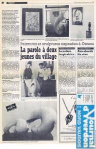 NV Ines Gonin 1er expo orzens 1987