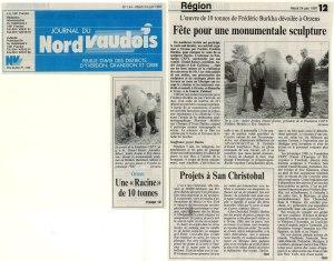 NV vente sculpture racine 24 juin 1997