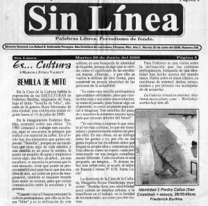 Sin Linea 20 junio 2000 expo SEMILLA DE MITO San Cristobal de las Casas