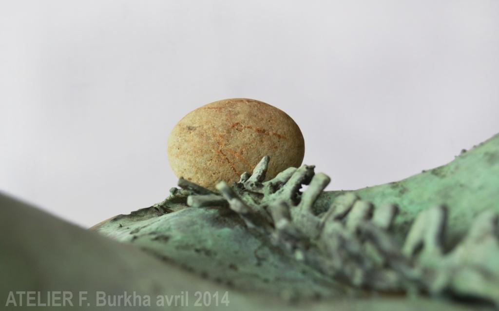 COLOR VERDE sculpture bois bronze pierre