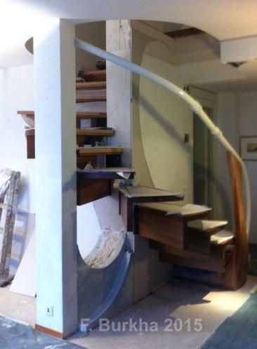 F Burkha sculpture escalier doublage platrerie 2015