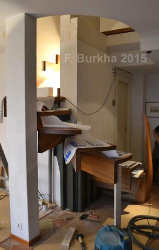 F Burkha sculpture escalier montage marches 2015