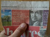 GABO 1ere page 24heures 14-03-2014