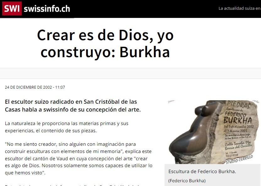 swissinfo-ch CREAR ES DE DIOS 24 diciembre 2002